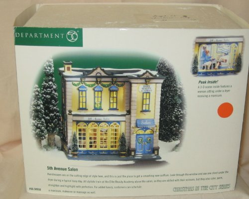 Department 56, Christmas In The City Series, ''5th Avenue Salon'' by Department 56