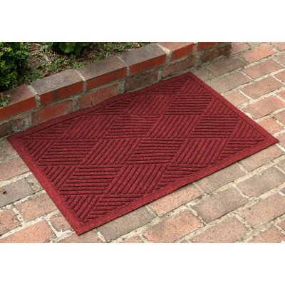 Bungalow Flooring Aqua Shield Diamonds Mat Size: 2' x 3', Color: Red/Black