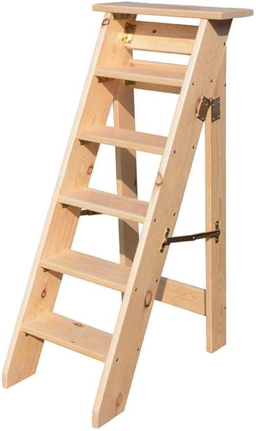 XITER Escaleras de Madera Plegables, escaleras de Tijera for Trabajo Pesado Taburete Silla de Escalera Robusta con Pedal Ancho: Amazon.es: Hogar