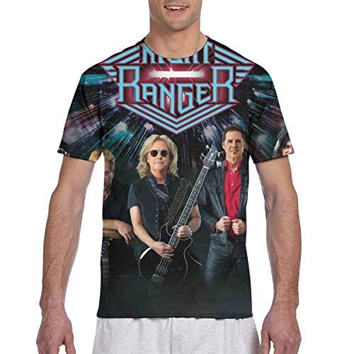 Night Ranger Mens 3D Printed Short Sleeve Top T-Shirts XL Black ()