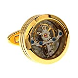 SS Men's Watch Mechanism Cufflinks Gold