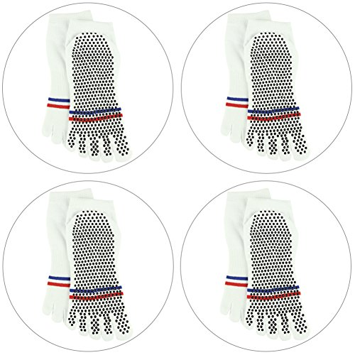 30591d6d4 Yoga Socks Non Slip,J'colour Pilates Barre Gripes Ankle Sports Athletic  Socks for