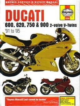 h3290 haynes ducati 600 750 900 2 valve v twins 1991 2005 motorcycleh3290 haynes ducati 600 750 900 2 valve v twins 1991 2005 motorcycle repair manual manufacturer amazon com books