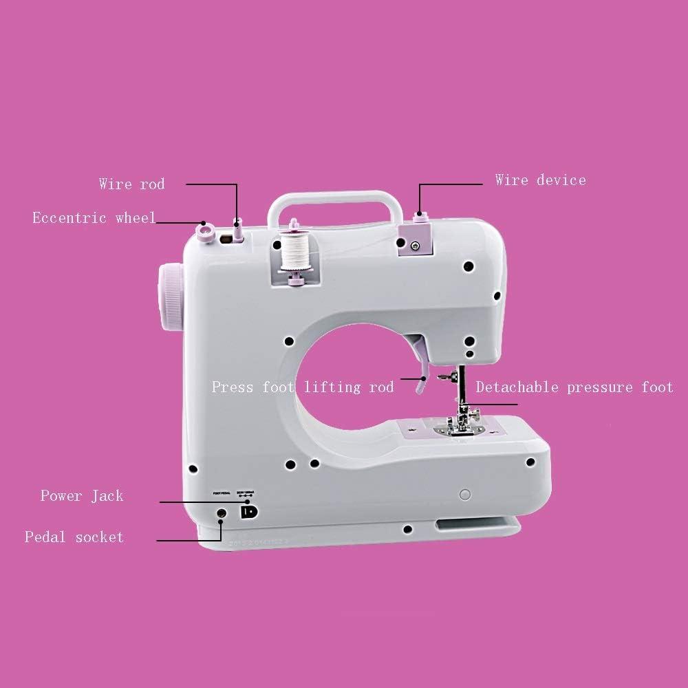GYZ Máquina de Coser, Mini portátil de 12 Puntos, máquina de reparación básica fácil de Usar for niños y Adultos ...