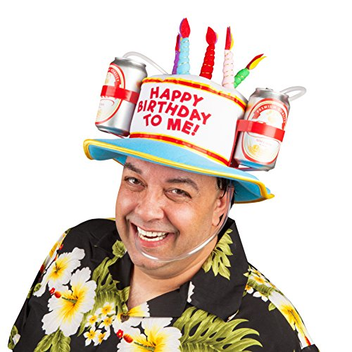 Drinking Hats With Straws - BigMouth Inc Happy Birthday to Me! Drinking Hat