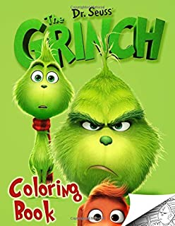 Grinch Coloring Book Exclusive High Quality Images Inpired By Dr Seuss How Stole Christmas