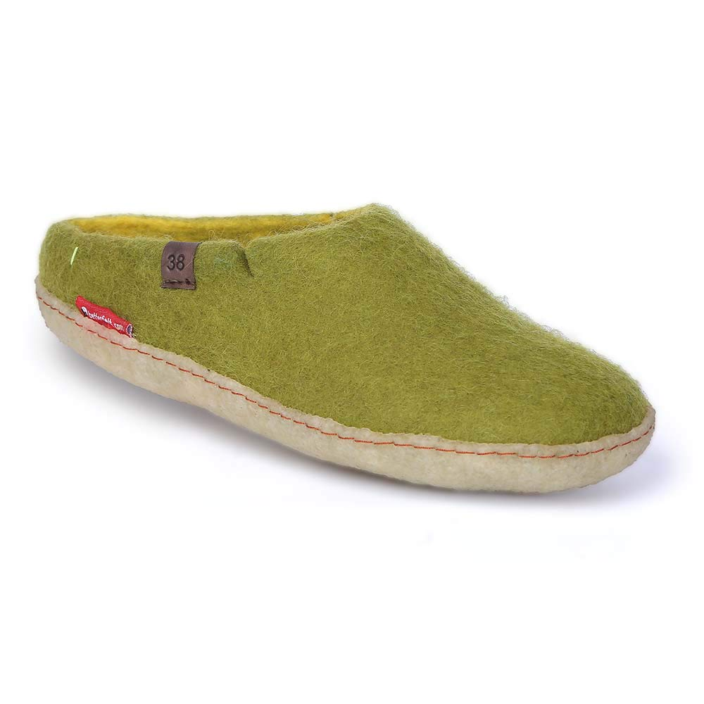 Lime With Rubber Sole Glerups AR Rubber shoes