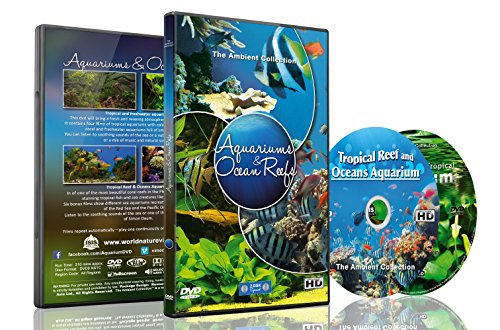 Aquarium DVD - 2 DVD SET Aquariums & Ocean Reefs with Colorful Corals & Fishes (Aquarium Background Dvd)
