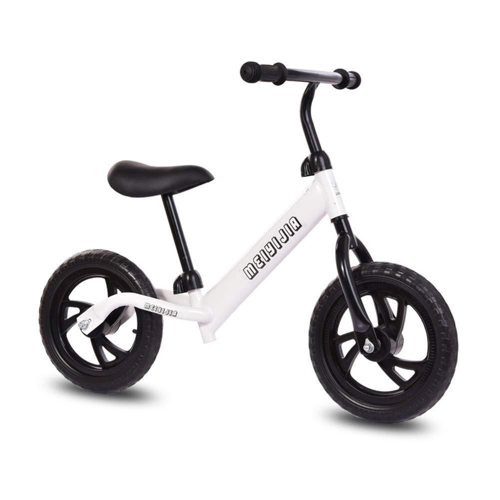 1-1 Bici Dell'equilibrio dei Capretti, Scooter dei Bambini A Due Ruote Nessuna Bicicletta del Pedale 12 Pollici E Sicuro E Comodo per I Bambini Bambino,bianca
