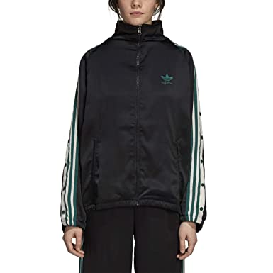 97ba443865b96e adidas Women Originals ADIBREAK Track TOP Satin Black DH4600 at ...