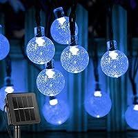 Luzes Solares de Corda, BCXAXA 60 LED 11M de Luzes de Natal Externa com 8 modos de Iluminação, Luzes de Pátio à Prova d…