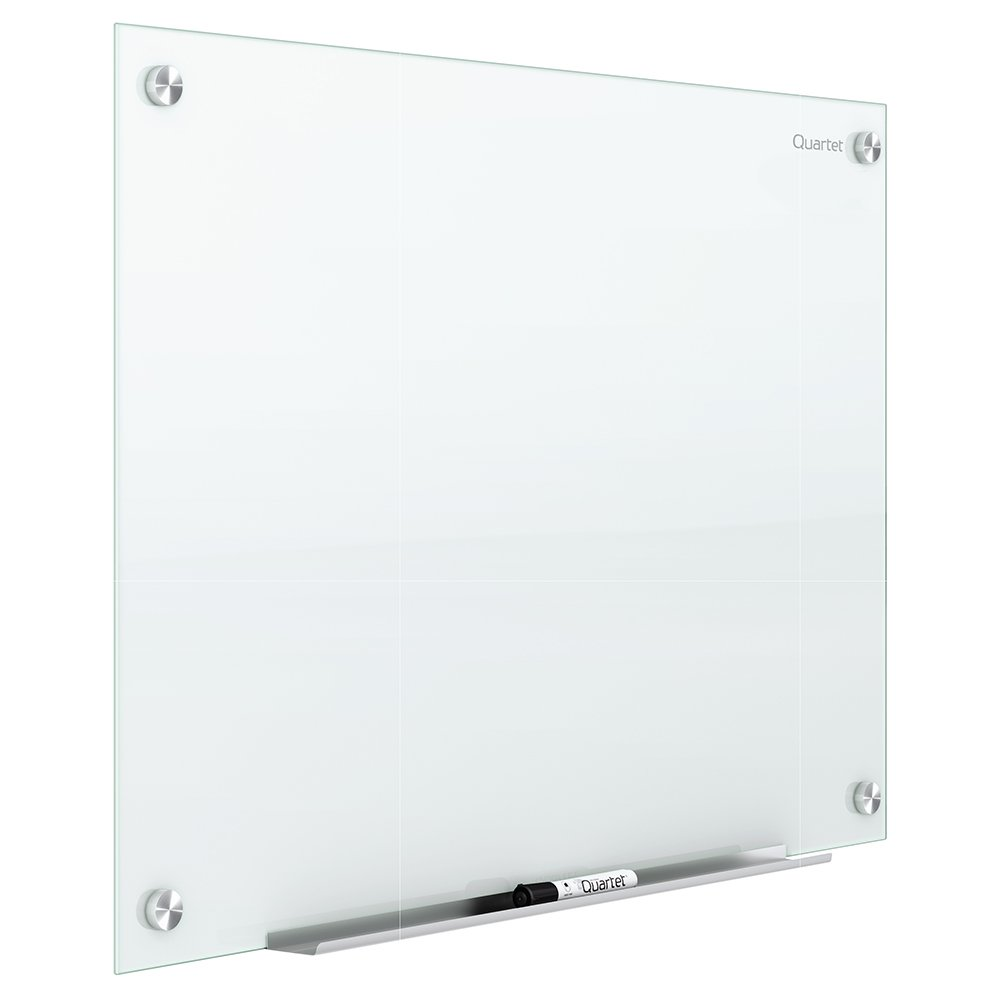 Quartet Glass Whiteboard, Magnetic Dry Erase White Board, 4' x 3', Infinity, White Surface (G4836W)