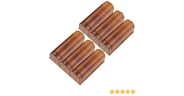 Brown Pedy Juego de 3 Piezas Trampa de pl/ástico ABS no Reutilizable y no reciclable marr/ón transl/úcido