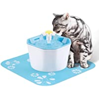 Lemonda Pet Water Fountain,Automatic Drinking Fountain for Pets Water Dispenser Filter Drinking Bowl with Free Silicone Mat for Dogs, Cats, Birds and Small Animals