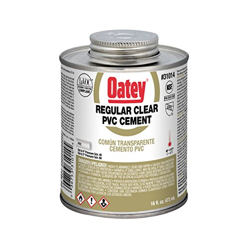 Oatey 31014 PVC Regular Cement, Clear, 16-Ounce