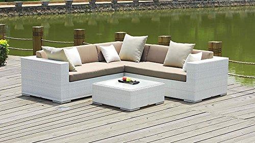 Talfa Polyrattan Gartenmöbel Sitzgruppe Ben Weiß Günstig