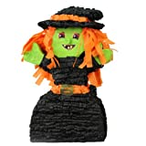 "Happy Halloween Witch Pinata, 19"" Game, Party Decoration and Photo Prop"