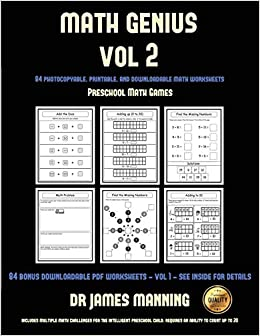 picture about Preschool Math Games Printable named Preschool Math Game titles (Math Genius Vol 2): This E book Is