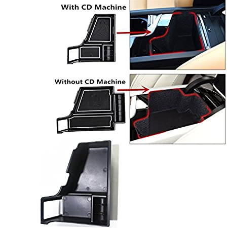 with CD Machine Only Fit Left Hand Drive HIGH FLYING Central Armrest Storage Glove Box Organizer Pallet Tray for Volvo XC90 2015-2018