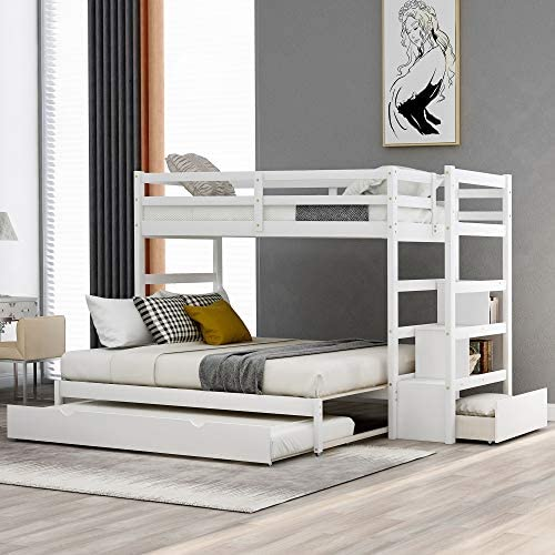 Twin Over Twin/King Bunk Bed