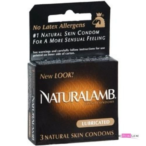 Siam Circus Naturalamb Natural Skin Lubricated Premium Luxury Latex-Free Condoms 3-Pack