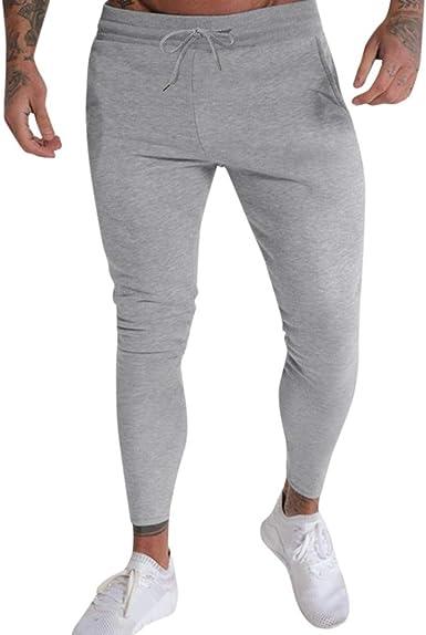 Con Marchio da Uomo Jogging Bottoms Pantaloni Sportivi Pantaloni Casual Palestra Allenamento Slim Fit in basso