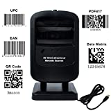 Handsfree Omni directional Barcode Scanner MUNBYN Auto Sensor for Supermarket to Read All 1D and 2D Bar codes