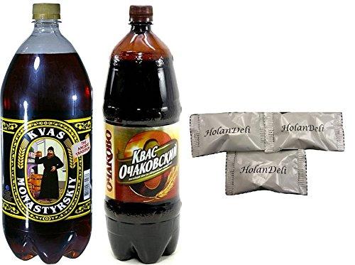 (Variety Pack Ochakovskiy and Monastyrsky Kvas . Includes Our Exclusive HolanDeli Chocolate Mints. )
