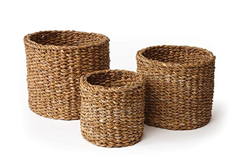 Napa Home & Garden Seagrass Small Round Baskets, Set of 3