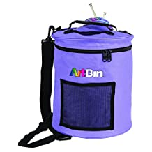 ArtBin 6807SA Yarn Drum; Round Knitting and Crochet Tote Bag, Periwinkle