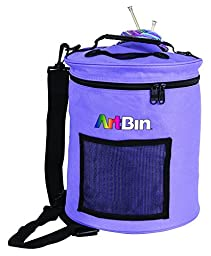 ArtBin Yarn Drum; Round Periwinkle Knitting and Crochet Tote Bag, 6807SA