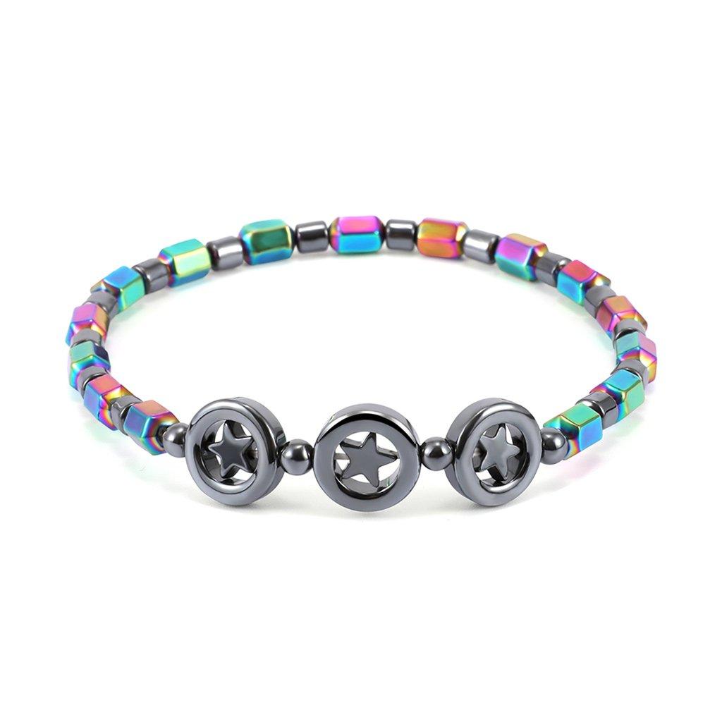 Doiber Magnetic Anklet Hematite Stone Ankle Bracelet Health Care Wegitht Loss Jewelry