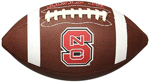 NCAA Game Time Full Size Football , North Carolina State, Brown, Full ()
