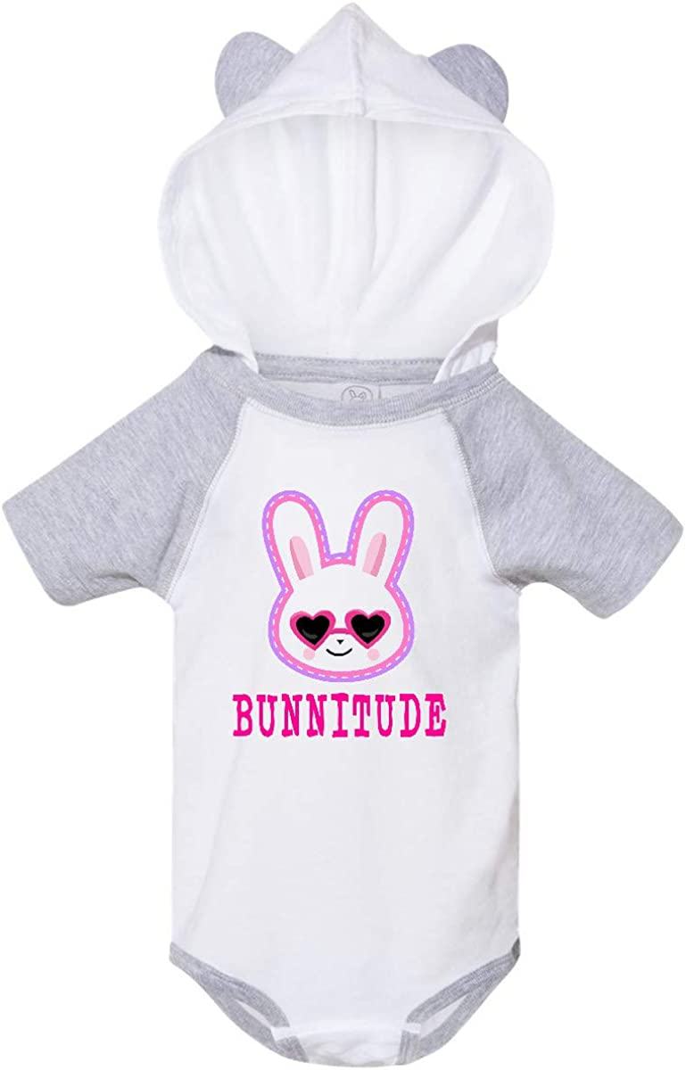inktastic Bunnitude with Bunny Face and Sunglasses Infant Creeper