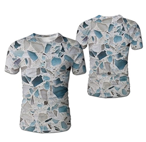 - GlORY ART Chic Glass Marble Boys'3D Printed Casual Short Sleeve T Shirts Top Tees for Teen