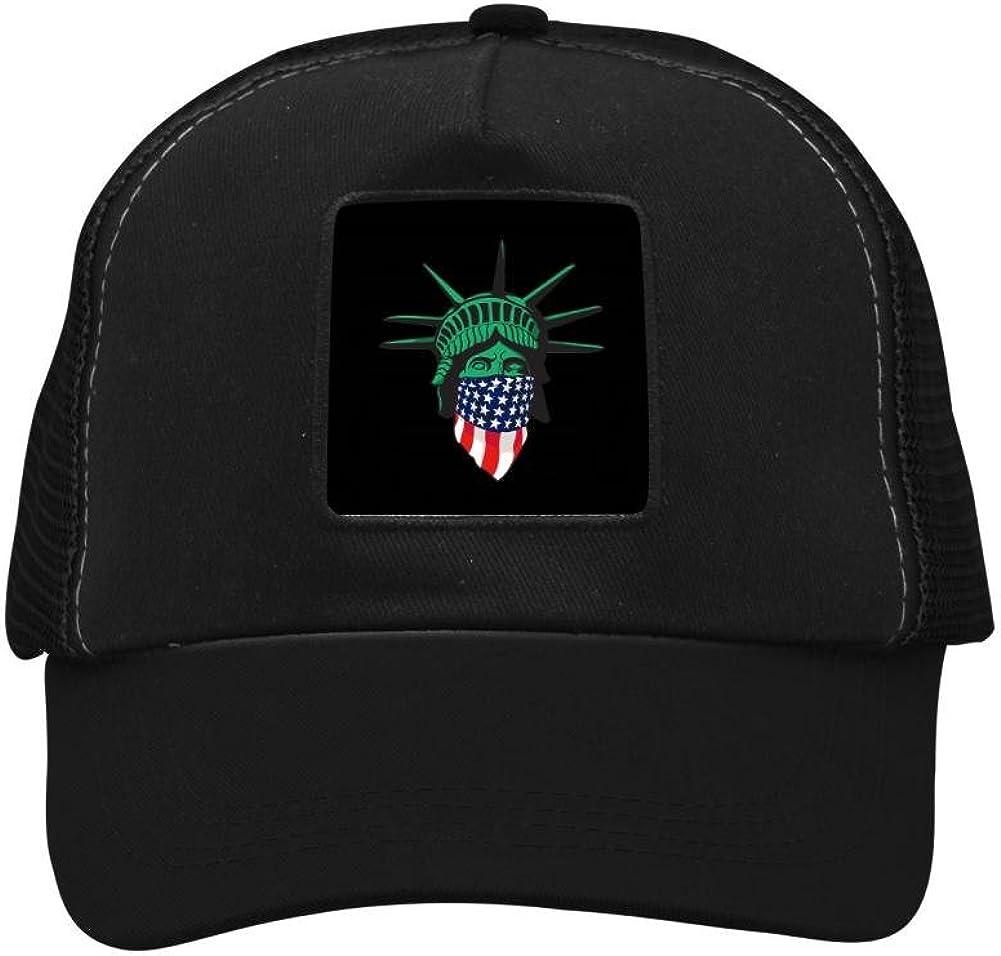 Nichildshoes hat Mesh Caps Hats for Men Women Unisex Print USA Assassin Flag