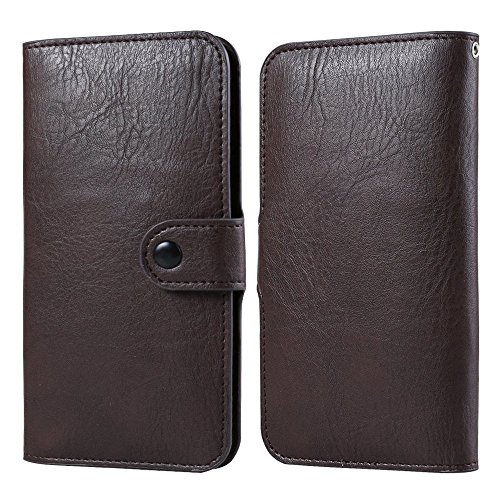 (VG PU Leather Executive Design Wallet Pouch Case for LG V10, LG Stylus 2, LG G5, G4, LG G Stylo, G Vista 2, ASUS ZenFone 3 Brown)