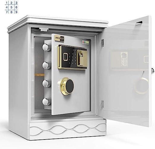 Prevención Caja Fuerte Invisible Pequeña Pared De La Cabecera De Madera Tabla Armario Mini Anti-Robo De Seguridad Fuerte Contraseña Electrónica Botón De Desbloqueo Seguridad: Amazon.es: Hogar