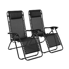 Naomi Home Zero Gravity Lounge Patio Outdoor Recliner Chairs