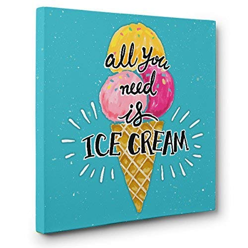 All You Need Is Ice Cream CANVAS Home D/écor