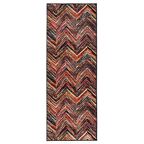 51mwQbzKWnL - Ottomanson Rainbow Collection Non-Slip Modern Children's Abstract Pattern Design Kitchen Runner Rug
