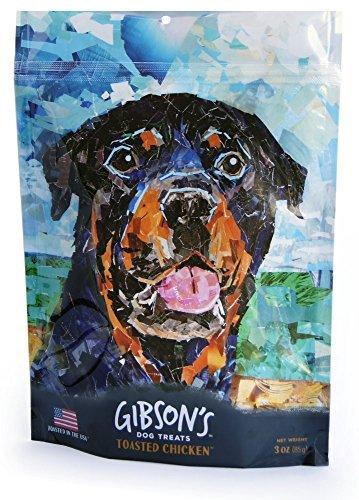 - Gibson's Toasted Chicken - Human Grade USA Soft Jerky Dog Treats, 3 oz