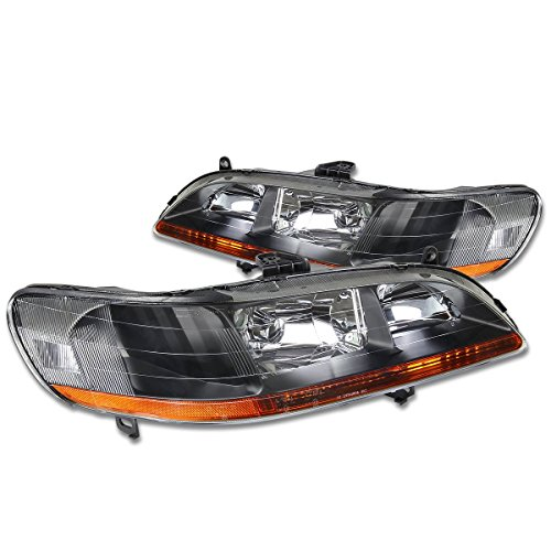 - DNA Motoring HL-OH-HA98-BK-AB Headlight Assembly (Driver and Passenger Side)