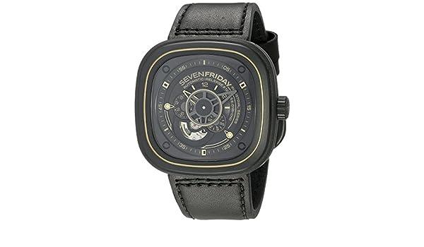 SevenFriday P2 - 2 revolución industrial, color negro y dorado: Amazon.es: Relojes