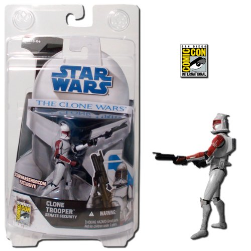 Figures Wars Star Wars Clone (Star Wars Clone Wars: Clone Trooper Senate Security Figure SDCC Exclusive)