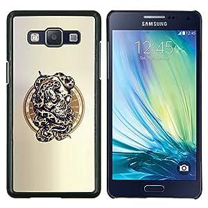 LECELL--Funda protectora / Cubierta / Piel For Samsung Galaxy A5 A5000 -- Serpiente Cráneo --