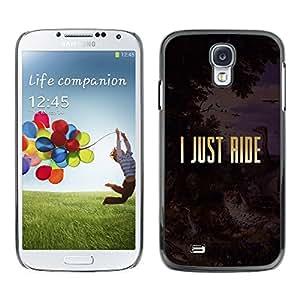 [Neutron-Star] Snap-on Series Teléfono Carcasa Funda Case Caso para Samsung Galaxy S4 [Sólo Cabalgata Religión Libertad de Oro Texto]