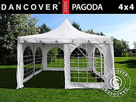 Dancover Carpa para Fiestas Carpa Eventos Pagoda Blanca, Blanca ...