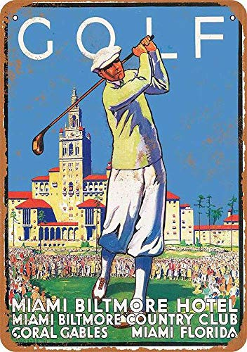 - Killy Golf at Miami Biltmore Hotel Funny Retro Wall Sign Vintage Plaque Iron Painting Creativity Poster Metal Art Sheet for Bar Cafe Garage Home