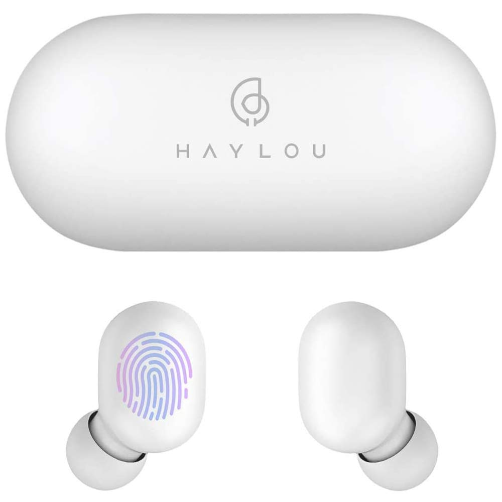 Haylou GT1 White True Wireless Earbuds Bluetooth 5.0 Sports HD Stereo Touch Control Ear Buds with IPX5 Waterproof/Fast Connection/Mini Case(Only 30g)/Total 12H Playtime